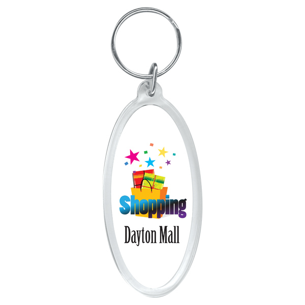 Customized Full color oval key ring