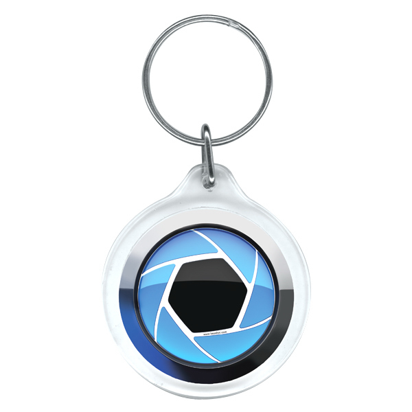 Imprinted Full color round key ring