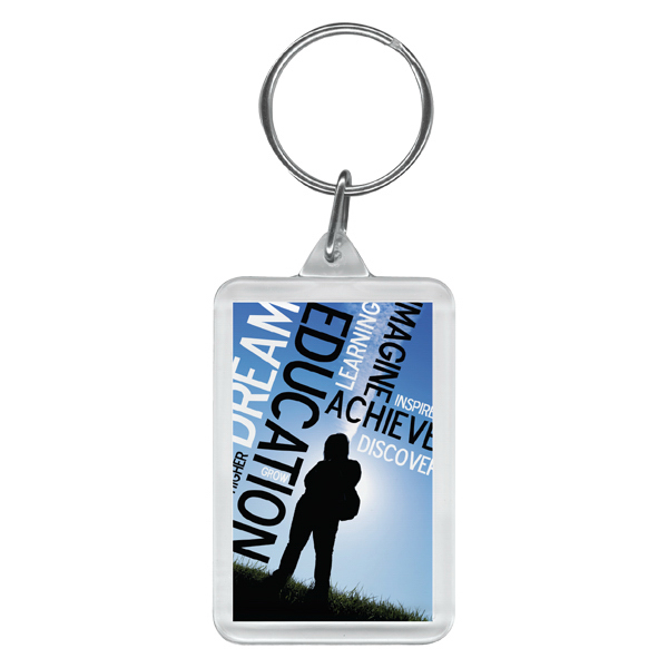 Customized Full color rectangular key ring