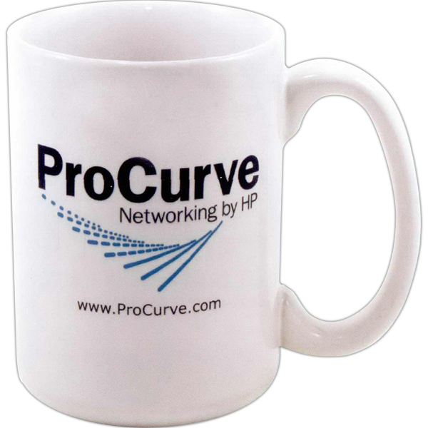 Imprinted Direct screen stoneware CEO mug - 15oz
