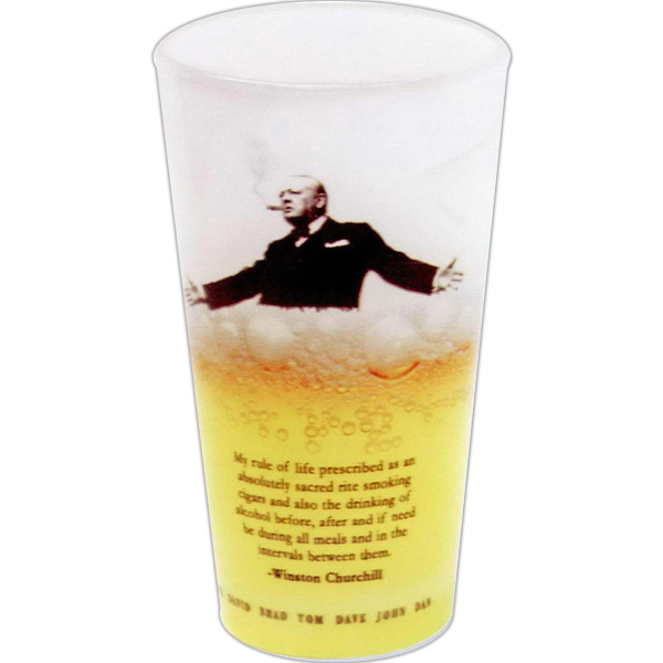 Personalized Full color European pilsner glass - 16oz