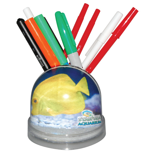 Custom Full color snow globe pencil caddy