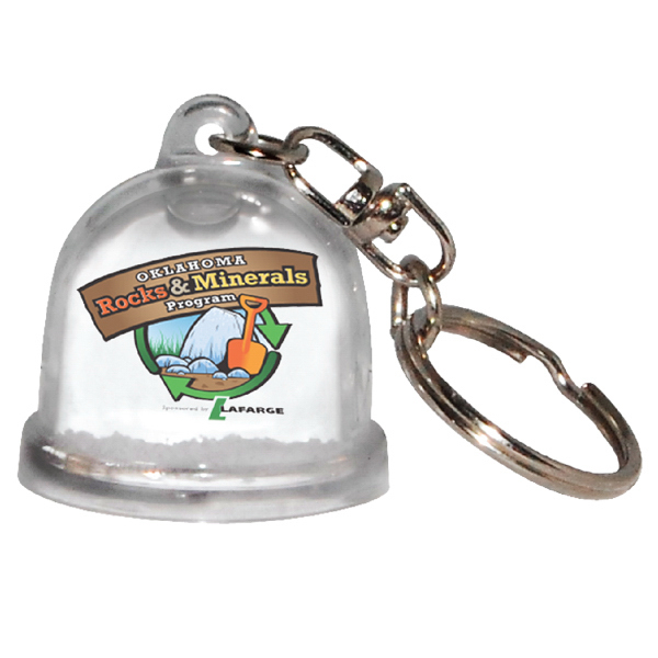 Printed Full color snow globe key ring