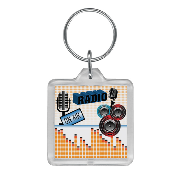 Personalized Full color square key ring