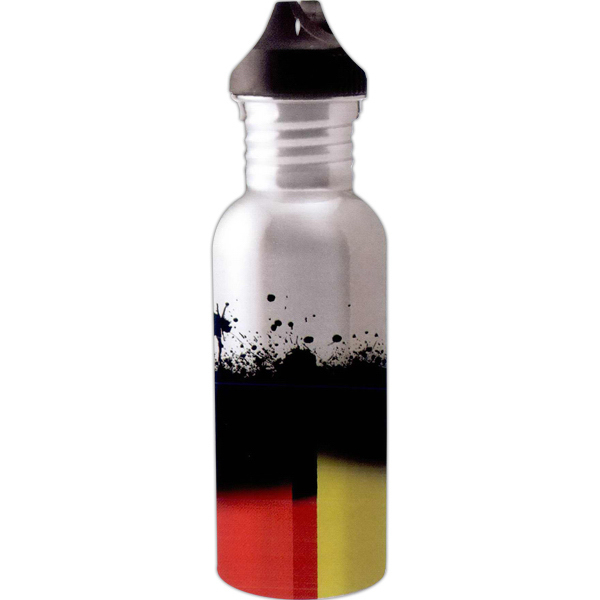 Custom Full color stainless steel water bottle - 20oz