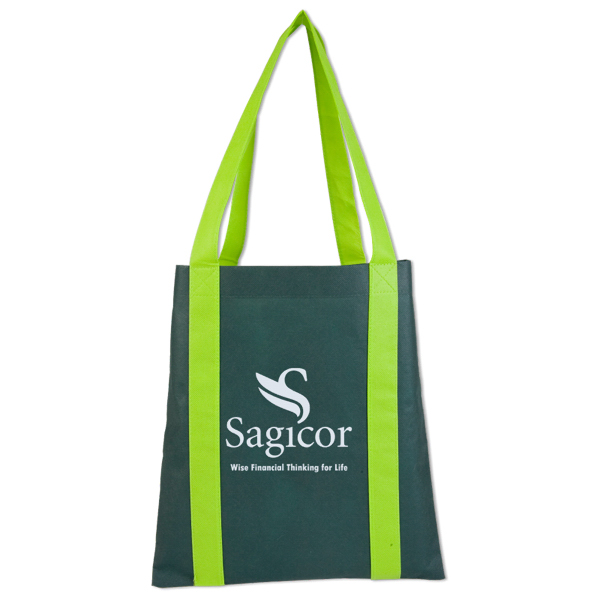 Customized 2 Tone Nonwoven Value Tote