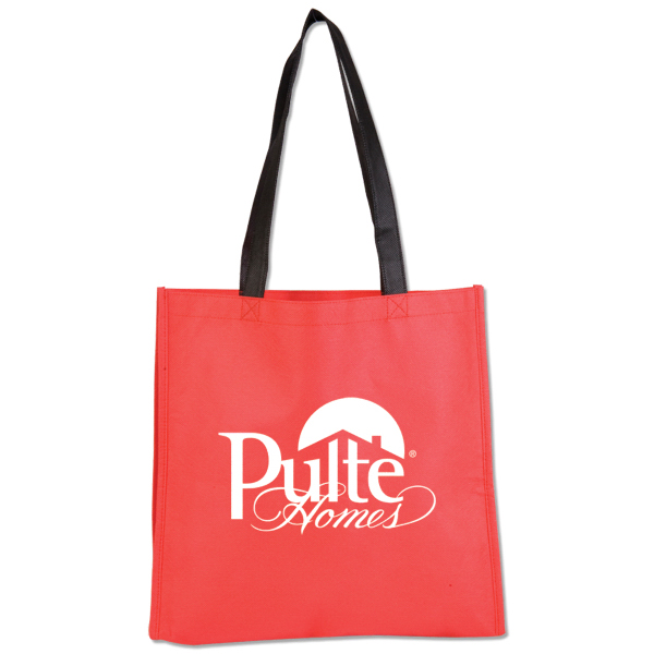 Customized Nonwoven Bright Tote with Black Handle