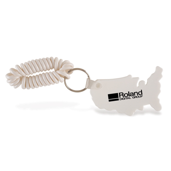 Promotional USA Keychain with Coil