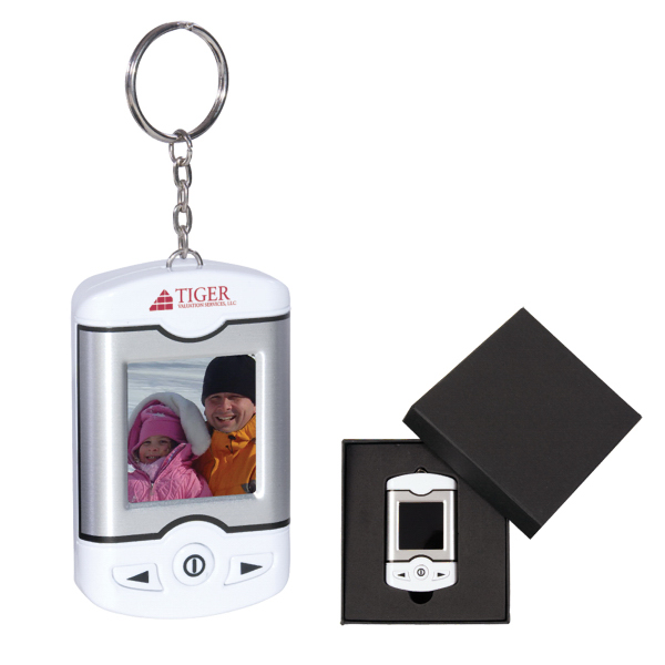 "Personalized 1.5"" Cinema Digital Photo Keychain"