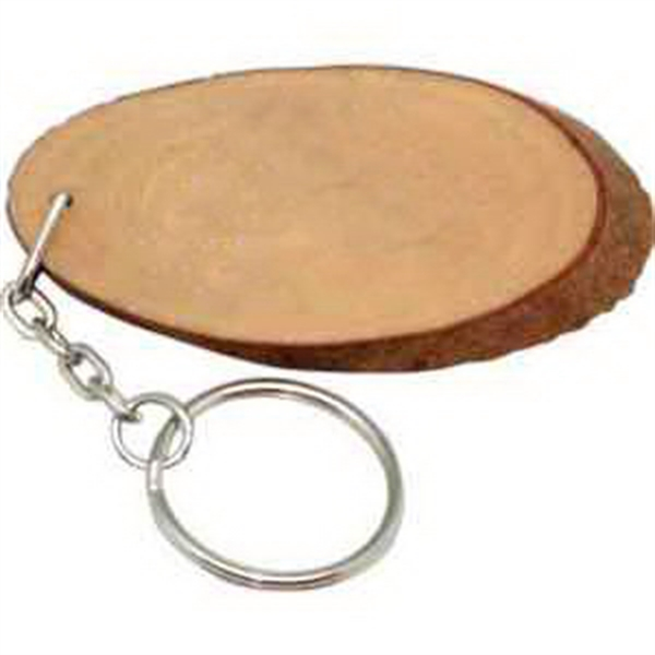 Personalized Natural wood keyring