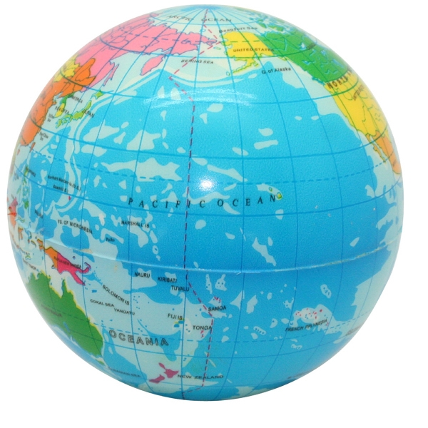 Promotional Squeezies (R) Printed Globe Stress Reliever