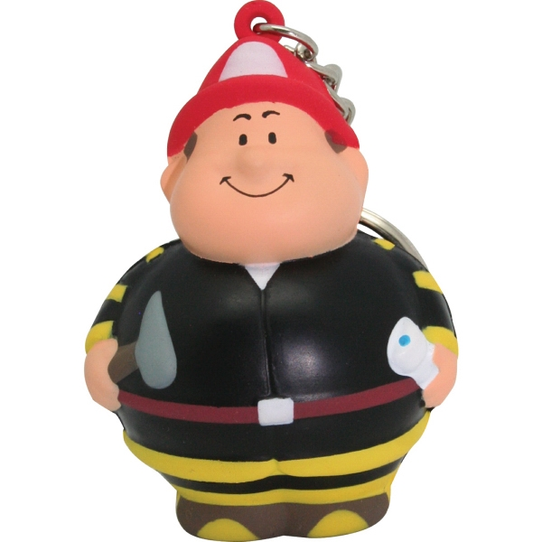 Customized Fireman Bert (TM) Squeezie (R) Keychain