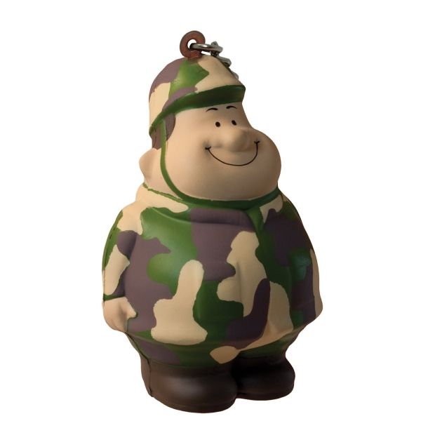 Imprinted Army Bert (TM) Squeezies (R) Keychain