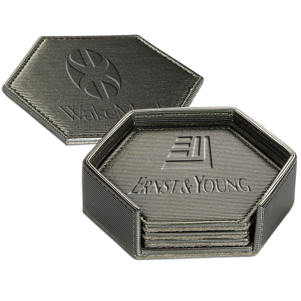 Promotional Broadway Hexagonal Coaster Set