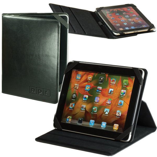 Imprinted Leeman New York Leather iPad (R) 2 Case/Stand