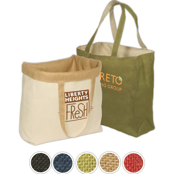 Promotional Reversible Jute/Cotton Tote