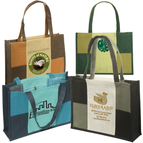 Custom City Square Jute Tote
