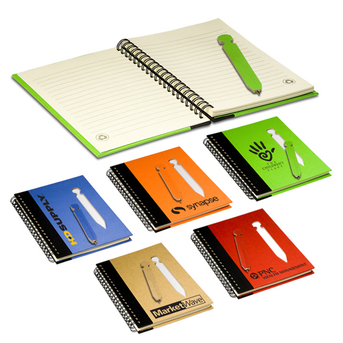 Promotional Eco Notebook with Die-Cut Pen