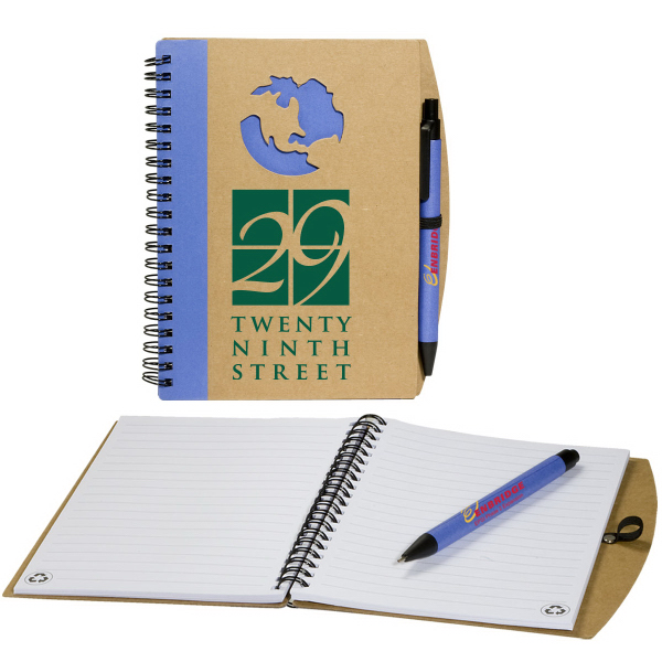 Personalized Globe Window Notebook