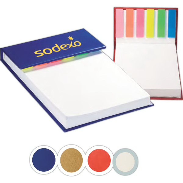 Promotional Hard Cover Sticky Flag Jotter Pad