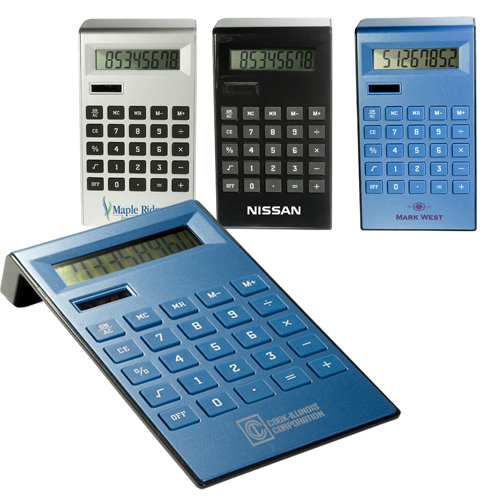 Imprinted Slim Ergonomic Calculator