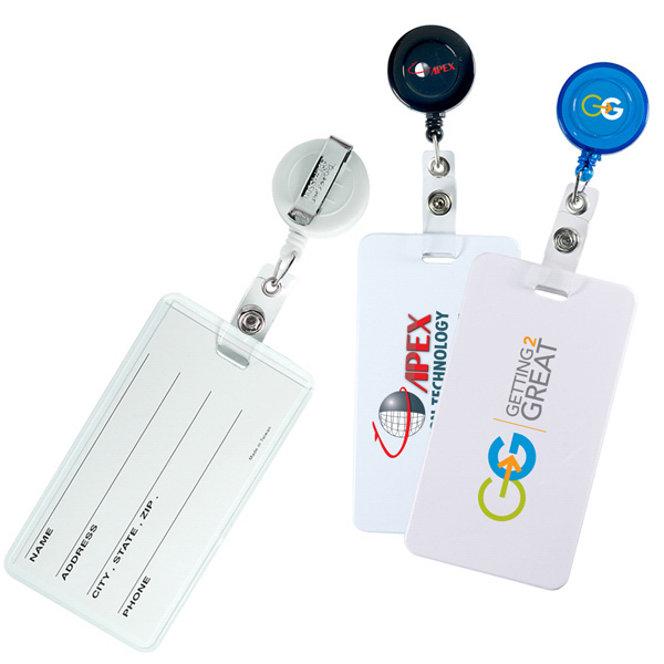 Printed Retract-A-Badge and Luggage Tag Combo