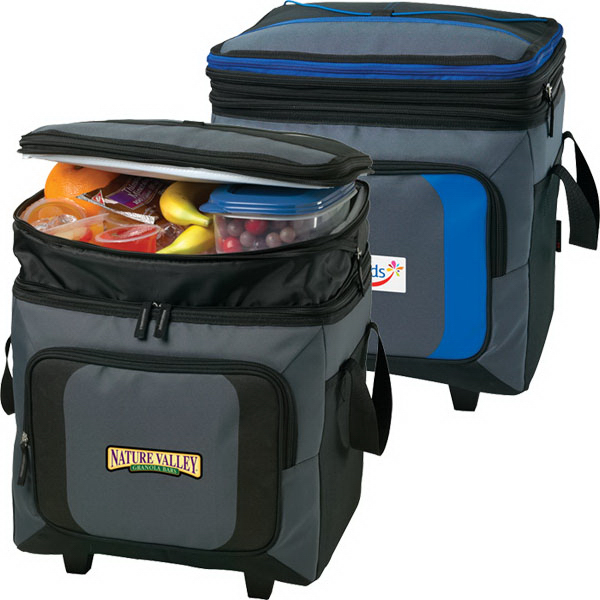 Personalized 36 Can Roller Cooler With Storage