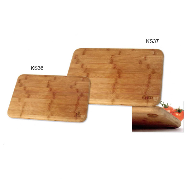 Promotional Bamboo Cutting Board With Rubber Grips