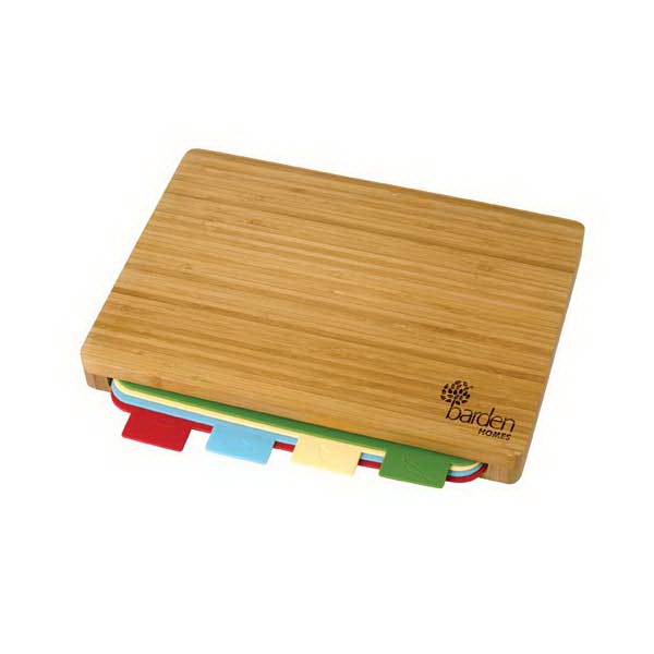 Printed 5 Piece Bamboo Cutting Board Set