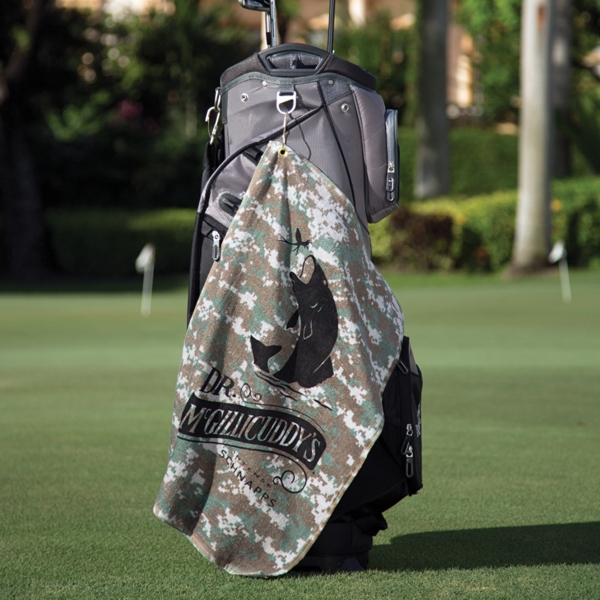 Imprinted Large Camo Golf Towel