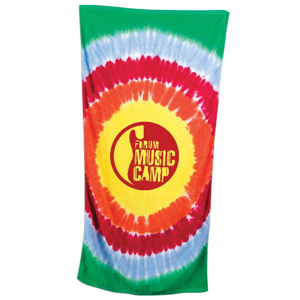 Imprinted Tie Dye Beach Towel