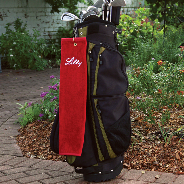 Personalized Platinum Collection Golf Towel