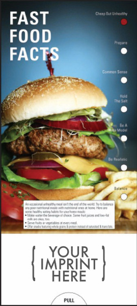 Printed Fast Food Facts Guide