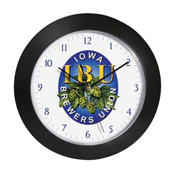 "Custom 12"" diameter wall clock"