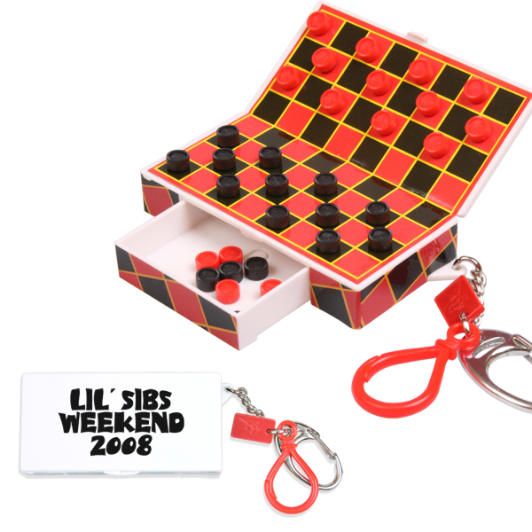 Customized Magnetic Travel Checkers Keychain