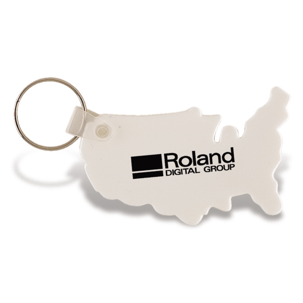 Personalized USA Vinyl Keychain