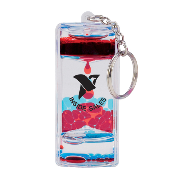 Customized Floating Liquid Lava Keychain