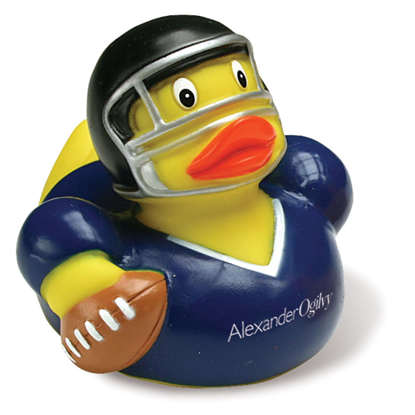 Custom Football Player Rubber Duck