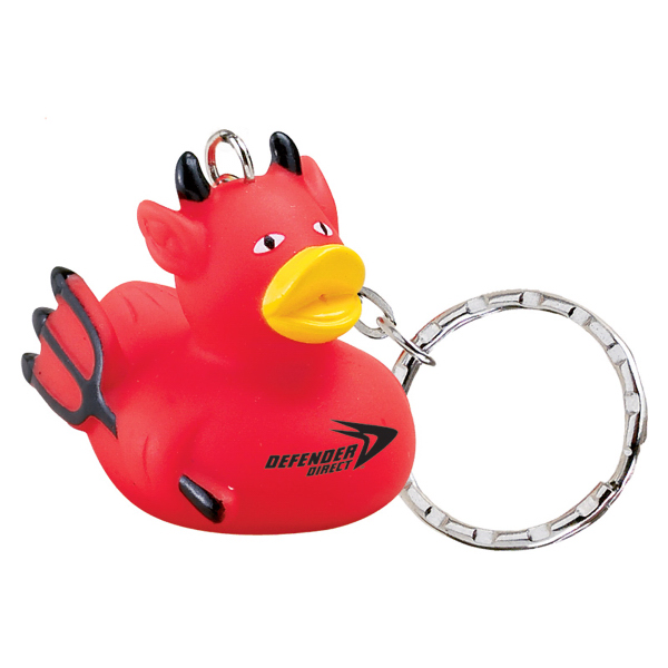 Promotional Devil Rubber Duck Keychain