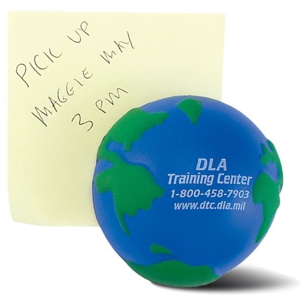Printed Globe Stress Reliever Magnet