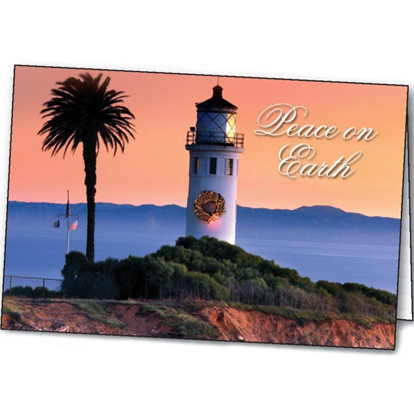 Customized Lighthouse Greetings greeting card
