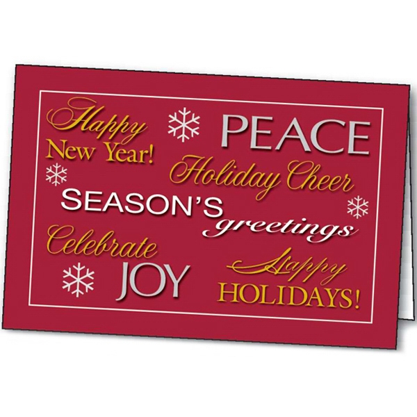 Imprinted Season's Greetings greeting card