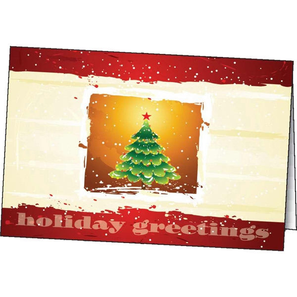 Imprinted Cheerful Holiday greeting card