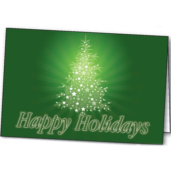 Printed Sparkling Holiday greeting card