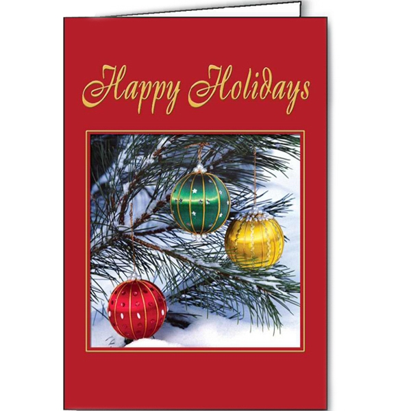 Imprinted Holiday Dazzle greeting card