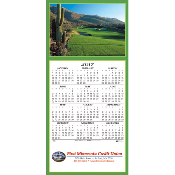 Promotional A Golfer's Delight calendar greeting card