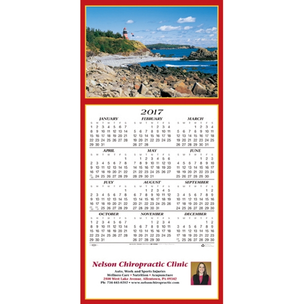 Printed Scenic Lighthouse calendar greeting card