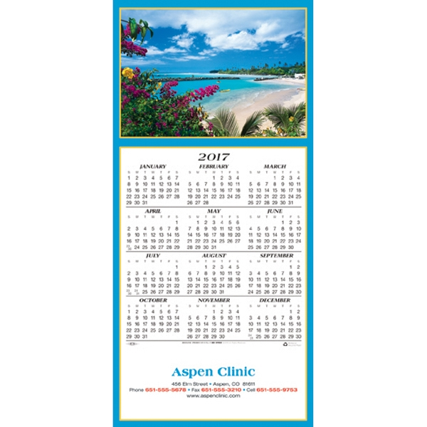 Customized Idyllic Destination calendar greeting card