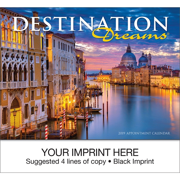 Customized Destination Dreams (R) appointment calendar