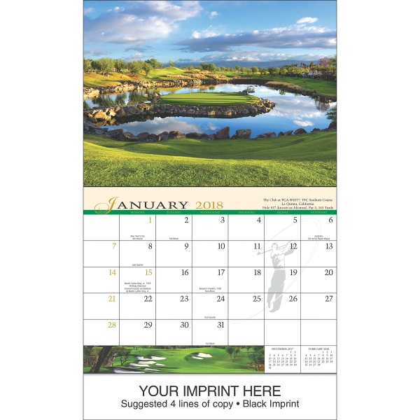 Personalized Golf appointment calendar